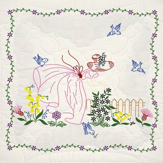 Stamped Quilt Blocks 18inX18in 6/PkgMiss Daisy