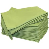 Stitch 'Em Up Hemmed Color Dyed Kitchen Towels 18inX28in 2/PkgAvocado Green