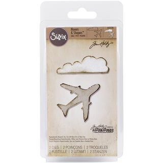 Sizzix Movers & Shapers Magnetic Dies By Tim Holtz 2/PkgAirplane & Cloud