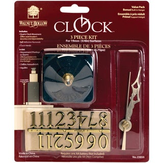 Clock 3Piece KitFor .75in Surfaces