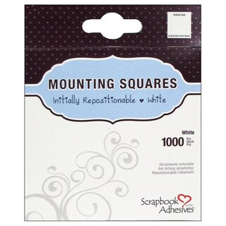 Scrapbook Adhesives Mounting Squares 1000/PkgRepositionable, White, .5inX.5in|https://ak1.ostkcdn.com/images/products/10570356/P17647283.jpg?_ostk_perf_=percv&impolicy=medium
