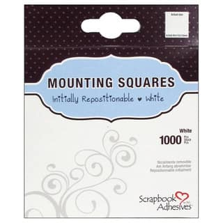Scrapbook Adhesives Mounting Squares 1000/PkgRepositionable, White, .5inX.5in|https://ak1.ostkcdn.com/images/products/10570356/P17647283.jpg?impolicy=medium