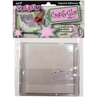 Crop & Glue Vellum Adhesive Sheets 10/Pkg4inX4in