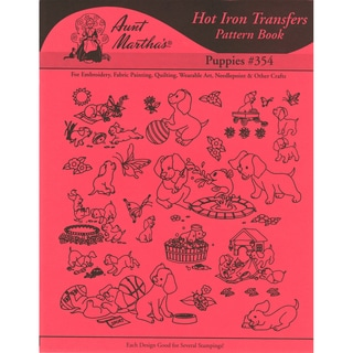 Aunt Martha's IronOn Transfer BookPuppies