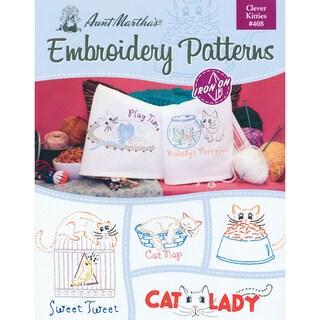 Aunt Martha's IronOn Transfer BookClever Kitties