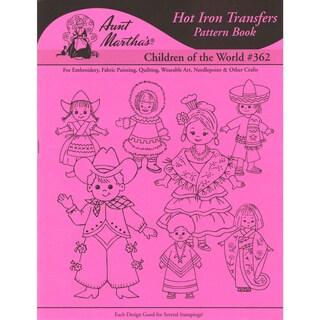 Aunt Martha's IronOn Transfer BookChildren Of The World