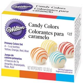 Candy Colors .25oz 4/PkgYellow, Orange, Red & Blue