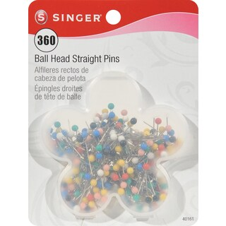 Ball Head Quilting Pins In Flower CaseSize 17 360/Pkg
