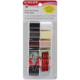 Cotton Thread 25yd 12/PkgLight & Dark Shades
