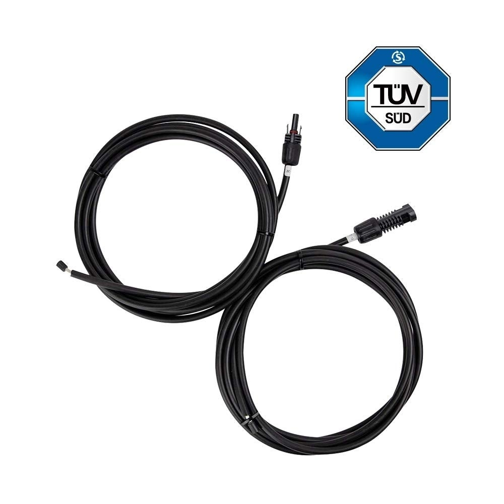 Pair 10ft 20ft 30ft 10 12 AWG Solar Extension Cable w// MC4 Male Female Connector