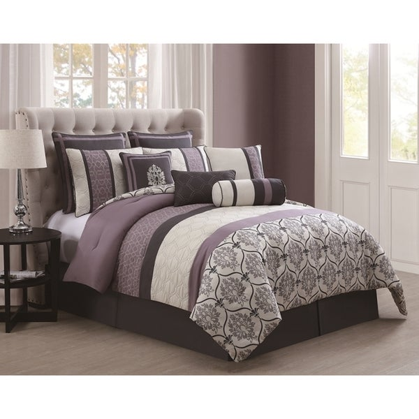 Darla 10-piece Embroidered Comforter Set