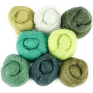 Wool Roving 12in .25oz 8/PkgJungle