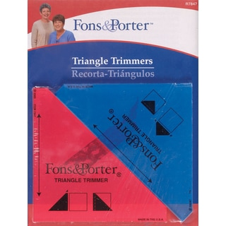 Fons & Porter Triangle Trimmers1/2in & 1/4in 2/Pkg
