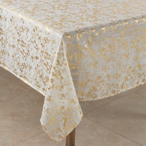Abstract Brushed Foil Design Tablecloth - 52 x 52