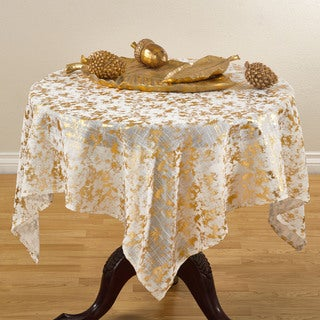 Abstract Brushed Foil Design Tablecloth