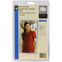 1/2in Covered SetIn Shoulder Pads 2/PkgWhite