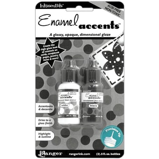 Inkssentials Enamel Accents .5oz 2/PkgBlack & White