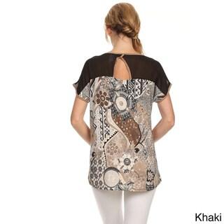 MOA Collection Women's Plus Size Paisley Print Top