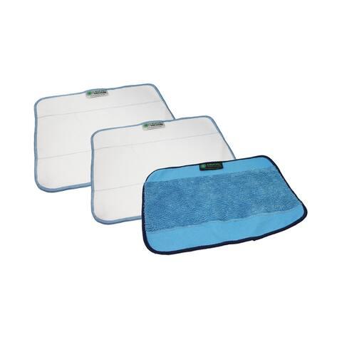 3pk Replacement Microfiber Mop Pads, Fits iRobot Mint & Braava, Washable & Reusable