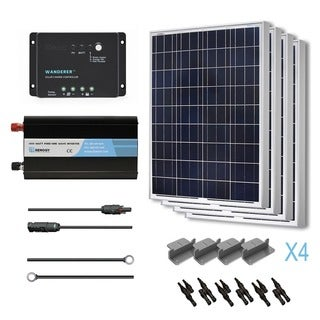 Renogy Complete Solar Kit 400W Polycrystalline 12V