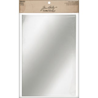 Tim Holtz IdeaOlogy Adhesive Mirrored Sheets 6inX9in 2/Pkg