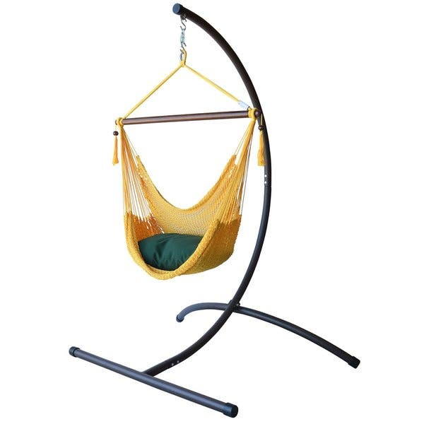 Shop Caribbean Hammock Chair With Footrest And C Stand Overstock