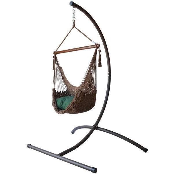 caribbean hammock chair with footrest and c stand caribbean hammock chair with footrest and c stand   free shipping      rh   overstock