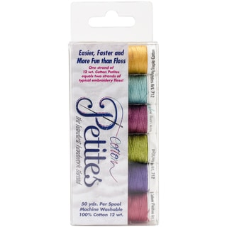 Sulky Sampler 12wt Cotton Petites 6/PkgBright Colors Assortment