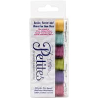 Sulky Sampler 12wt Cotton Petites 6/PkgBright Colors Assortment