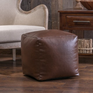 Christopher Knight Home Zayden Cube Pouf Ottoman