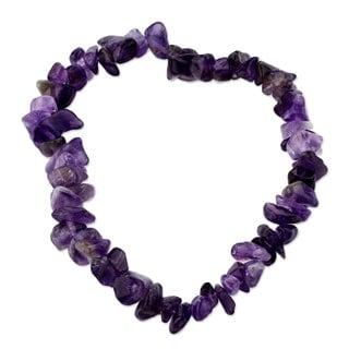 Handcrafted Amethyst 'Nature's Wisdom' Bracelet (Peru)