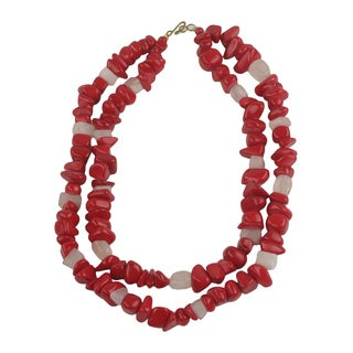 Handcrafted Agate 'Red Velvet' Necklace (Ghana)