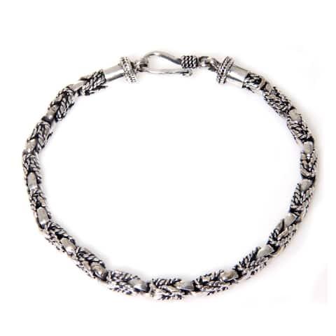 NOVICA Handmade Sterling Silver Sinnet Bracelet (Indonesia)