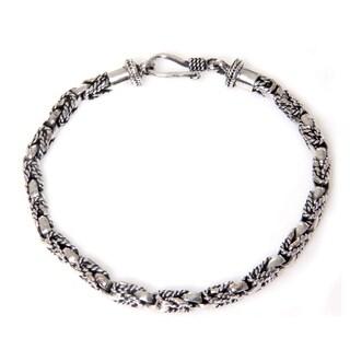 Handmade Sterling Silver 'Sinnet' Bracelet (Indonesia)