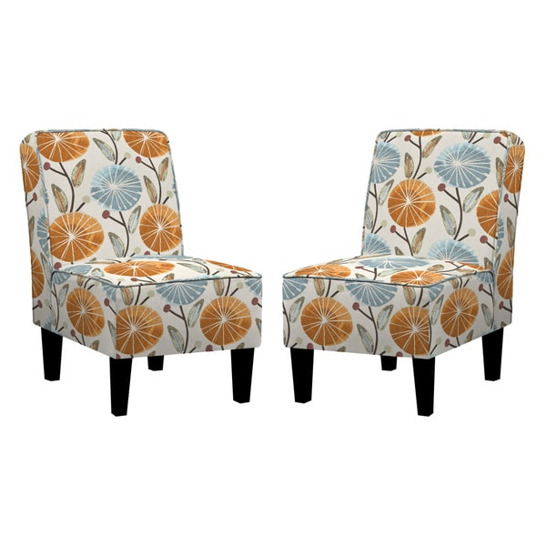 Shop Better Living Jules Water Blue Lilly Armless Chair