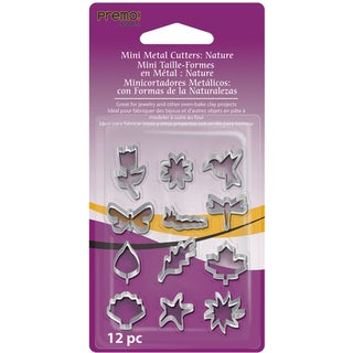 Premo Sculpey Mini Metal Cutters 12/PkgNature