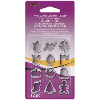Premo Sculpey Mini Metal Cutters 12/PkgHoliday