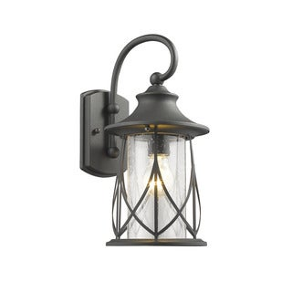 Chloe Transitional 1-light Black Outdoor Wall Lantern