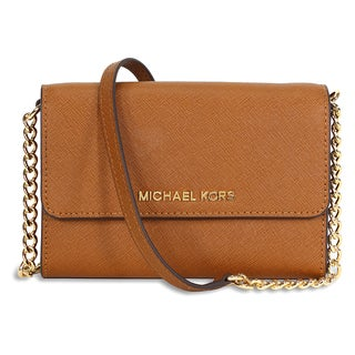 Michael Kors Jet Set Luggage Brown Crossbody Handbag