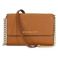 Michael Kors Jet Set Luggage Brown Crossbody Handbag