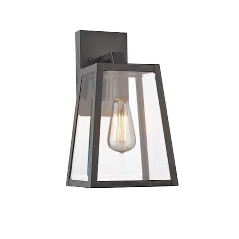Chloe Lighting Transitional 1-light Black Outdoor Wall Lantern