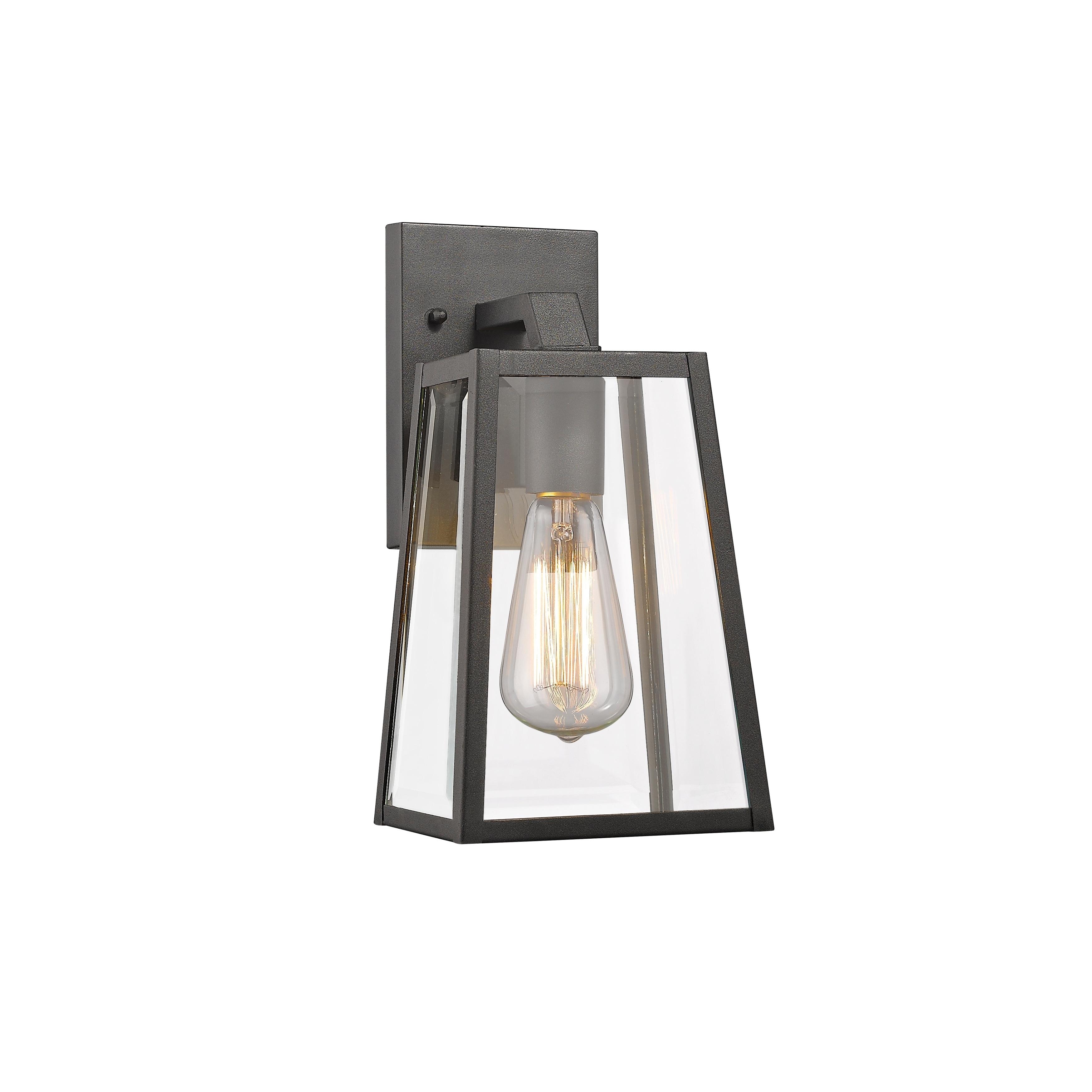 Chloe Transitional 1-light Black Outdoor Wall Lantern (Bl...