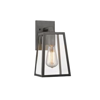 Chloe Transitional 1 Light Black Outdoor Wall Lantern