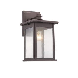 Outdoor lighting for less clearance liquidation overstock chloe transitional 1 light rubbed bronze outdoor wall lantern aloadofball Choice Image