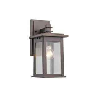 Chloe Transitional 1-light Rubbed Bronze Outdoor Wall Lantern