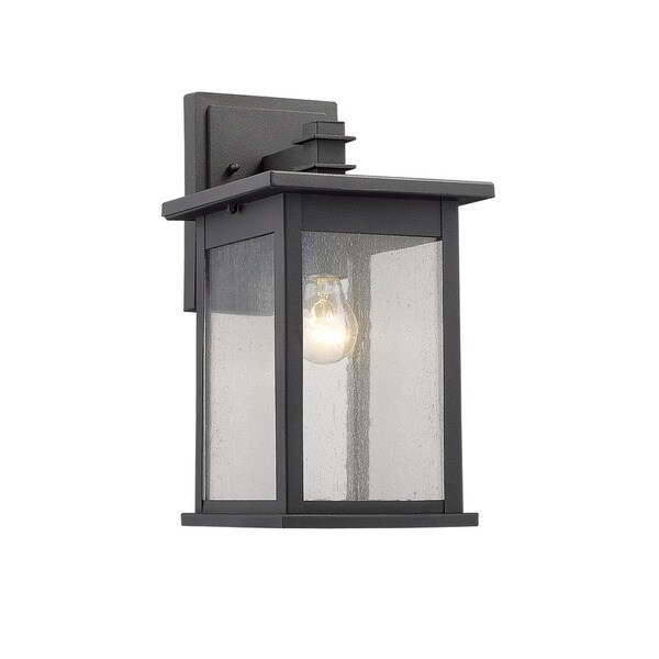 chloe transitional 1 light black outdoor wall lantern free shipping