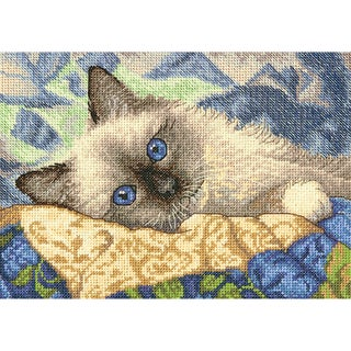 Gold Petite Charming Counted Cross Stitch Kit7inX5in 18 Count