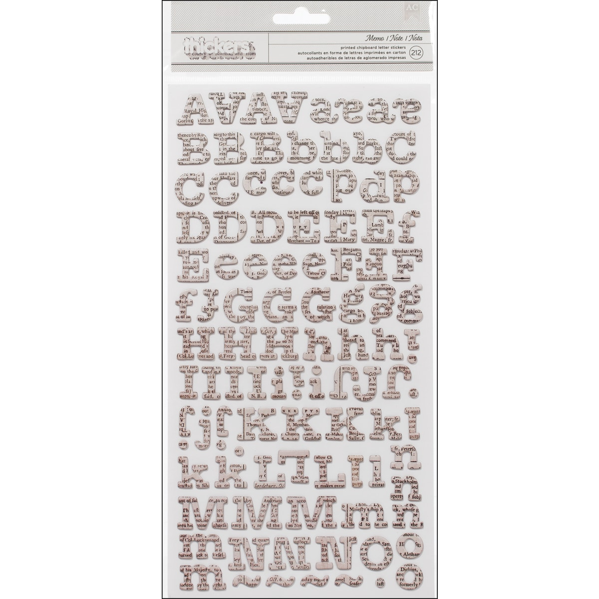 American Crafts Thickers Printed Chipboard Stickers 6inX1...