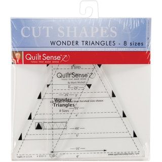 Quilt Sense Wonder Triangles Rulers8 Sizes