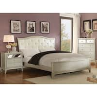 Furniture of America Divenna Modern 3-piece Crocodile Silver Bedroom Set